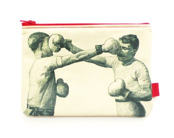 Boxing Pouch. Fabric Purse. Pencil Case. Sewing Kit. Makeup Pouch.