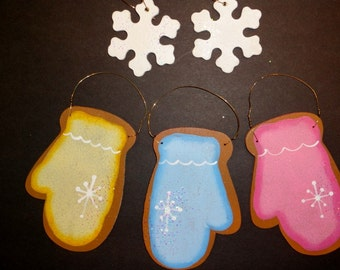 Christmas Ornaments, Set Of Five Sugar Cookie Ornaments To Be Personalized,Tree Decor,,Snowman Decor, Xmas Decor,