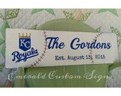 Baseball Team Family Name Sign / Family Name Sign / Baseball Sign / Man Cave Sign / Wedding Gift / New Baby Gift