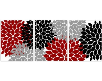 Damask Wall Art Tan Black Bedroom Pictures CANVAS or Prints