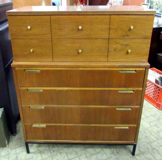 Mid Century Dresser tall walnut