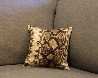 Little Snakeskin Print Decorative Pillow - Size 12in x 12in