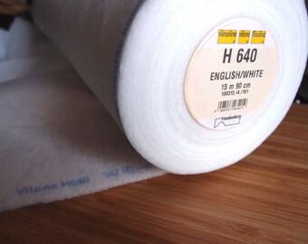 Vilene H640 Fusible interfacing / Wadding - White - HALF YARD