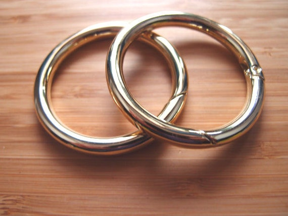 Snap O Rings Gate Hinged Rings 2 Inch 50mm Gold