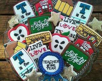 Teacher Appreciation  decorated cookies