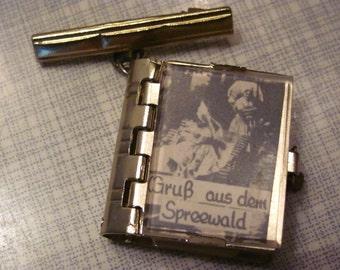 Very rare! 1950s vintage souvenir pin from Spreewald - Leporello with b/w photos!