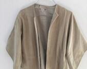 Sand Suede Cropped kimono jacket