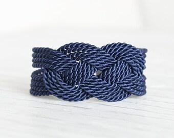 Blue Bracelet, Knot Bracelet, Rope Bracelet, Sailor Knot, Rope Knot Bracelet, Nautical Bracelet, Nautical Knot,Friendship,Dark Blue Bracelet