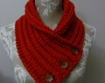 Order for Sue - Chunky Red Neck-warmer - 1681