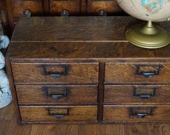 Antique, Wood File Cabinet