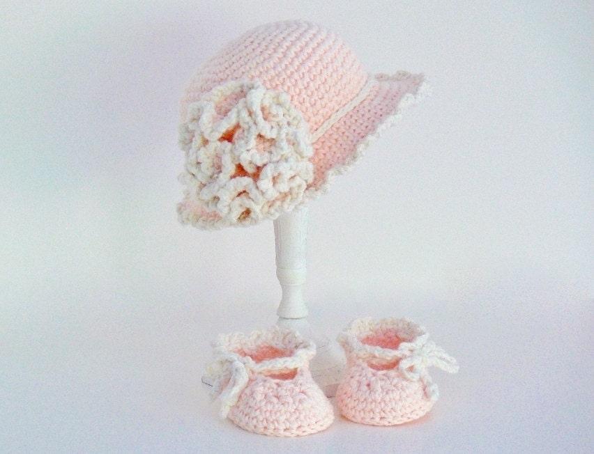 Crochet Baby Girl Sun Hat Pattern : Crochet Pattern Girls Hat Baby Hat Sun Hat Slippers