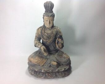 Antique Buddha Abhaya Mudra Energy of No Fear, c.1910