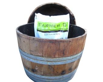 French Oak Wine Barrel Planter Single