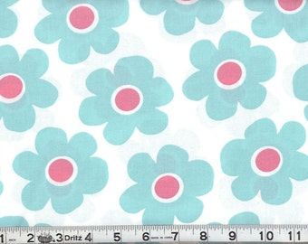 Robert Kaufman BLUE And Pink  Fabric