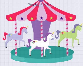 INSTANT DOWLOAD   Carousel Clipart Single  Scrapbook for Personal and Commercial Use