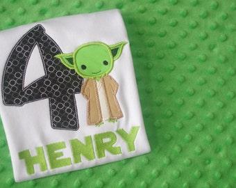 Yoda or Captain Phasma Appliqued Birthday Shirt or Onesie - Star Wars