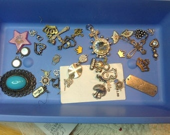 Charm lot - 30+ charms, many vintage pieces
