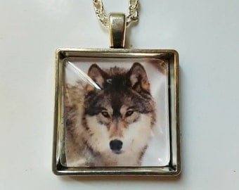 wolf necklace picture pendant e animal