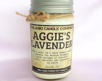 Aggie's Lavender 16oz Vintage Soy Candle