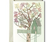 My life in a Tree House II - Greeting Card
