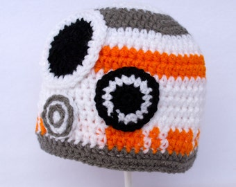 Crocheted Hat -  BB8 droid from Star Wars