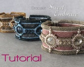 Tutorial for beadwoven peyote bracelet 'Sweet Embrace' - PDF beading pattern - DIY