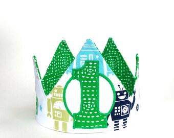 Robot birthday crown