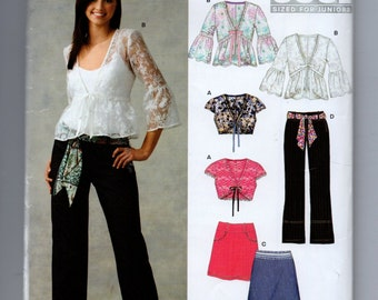 UNCUT 6660 New Look Sewing Pattern Overblouse Skirt Pants Bolero-Blouse
