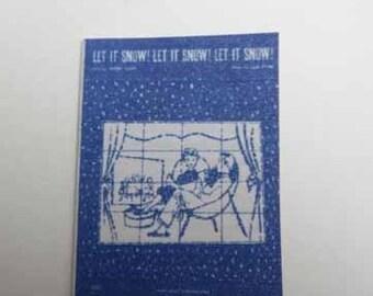 Sheet Music Let It Snow, Let It Snow, Let It Snow - dollhouse miniature 1:12 scale