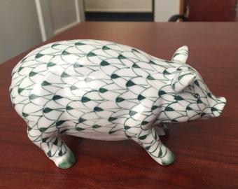Green and White Fishnet Piggy bu Sadek