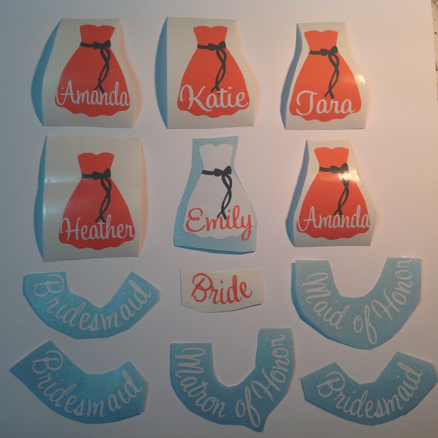 DIY Personalized Bridesmaid Wine Glass Vinyl Decals Wedding - How to make vinyl decals for wine glasses