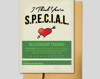 Fallout SPECIAL Inspired Love Card. Gaming Love. Gamer Love. Fallout 4. Anniversary Card. Love Card. Valentines Day.