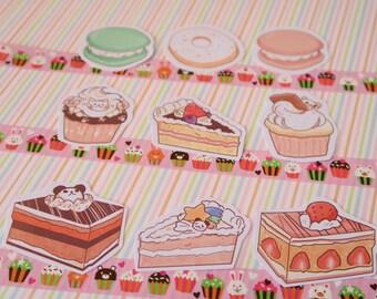 Pastel Patisserie Sticker Set