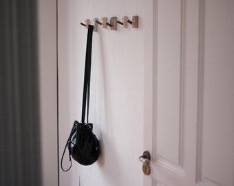 Wooden Hook - Sweet Chestnut wood reclaimed - Tree coat rack