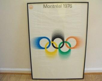 Original Montreal 1976 Summer Olympics Poster