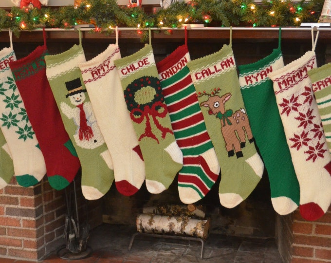 Christmas Stockings - Hand Knit, Heirloom Quality, Lined
