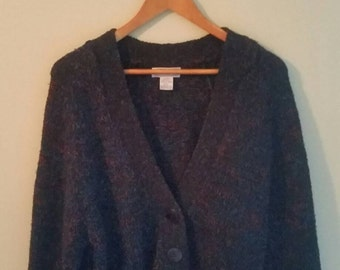 Black Cardigan with multicolored threading