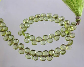 8-inch AAA quality Peridot faceted heart shape size 5mm 50cts GW1596