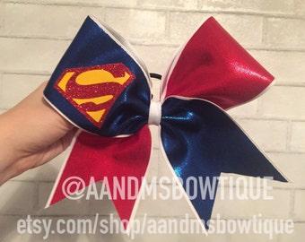 Superman Cheer Bow