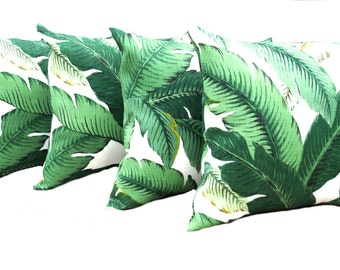 4 Tommy Bahama  pillow covers, FREE SHIPPING, Outdoor Pillow decorative throw pillow, accent pillow, Palm tree pillow