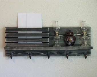 Rustic Wall Organizer Mail and Key Holder