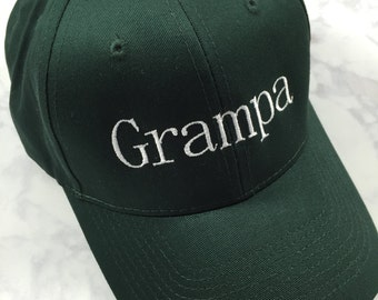 Father's Hat - Grandpa Hat - Grandfather hat - Father hat - Father's Day gift - Grandfather gift - Father gift - Personalized cap