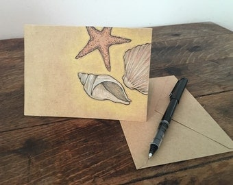 Seashell - Hand Drawn Greeting Card