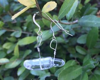 Polished Quartz Sterling Silver Earrings