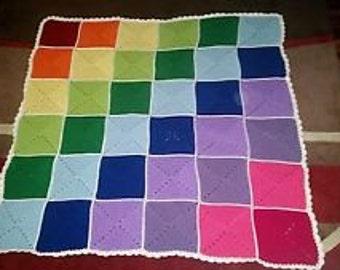Crochet rainbow afghan bkanket