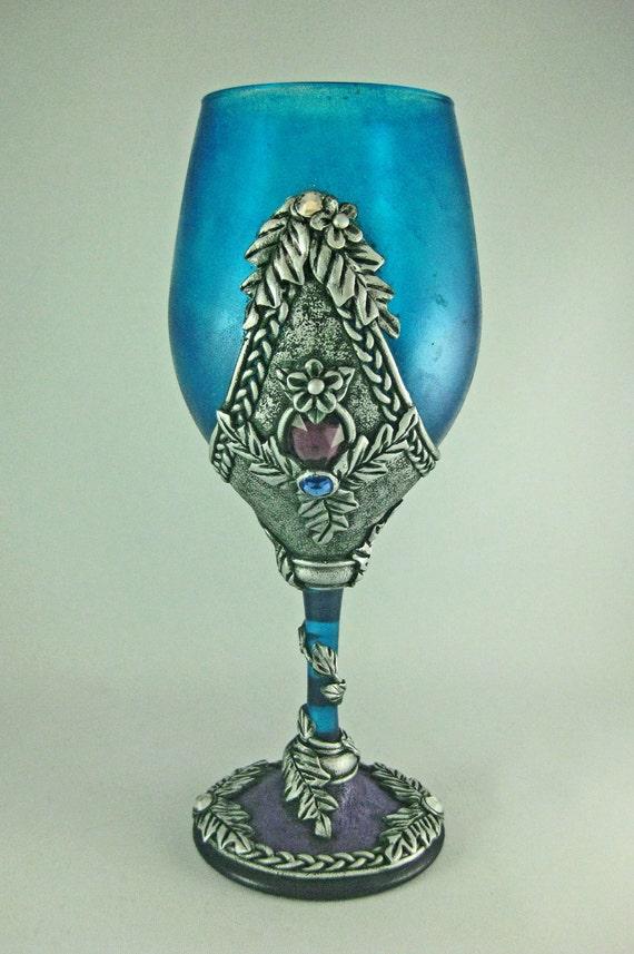 Medieval Style Wine Goblet, Celtic Style Wine Vessel