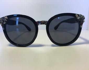Crystal Adorned Oversized Sunglasses