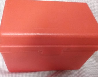 Vintage File Box Red Plastic Awesome Made in USA