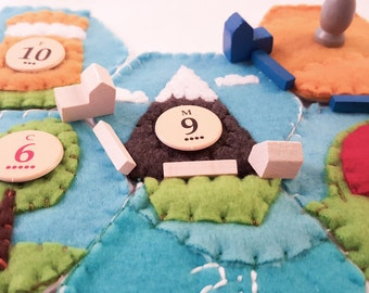 Settlers of Catan Resource Tile Set - One of a Kind Handmade Catan Board