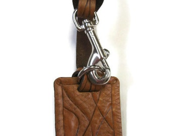 Leather bag charm